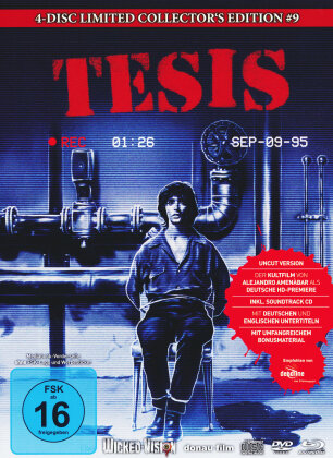 Tesis (1996) (Cover C, Collector's Edition, Edizione Limitata, Mediabook, Uncut, Blu-ray + 2 DVD + CD)