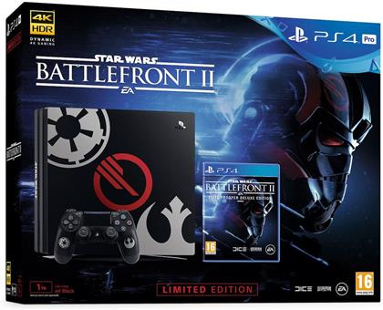 Sony PlayStation 4 Pro 1 TB Schwarz + Star Wars Battlefront 2 (Deluxe Edition)