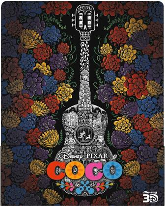 Coco (2017) (Limited Edition, Steelbook, Blu-ray 3D + 2 Blu-rays)