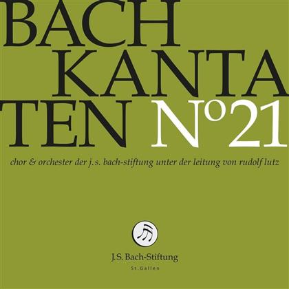 Dorothee Mields, Terry Wey, Johann Sebastian Bach (1685-1750), Rudolf Lutz & J.S. Bach-Stiftung St.Gallen - Kantaten Vol.21