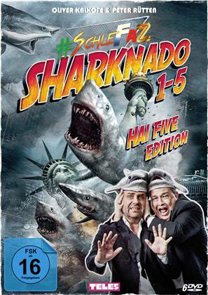 Sharknado 1-5 (SchleFaZ - Die schlechtesten Filme aller Zeiten, Hai Five Edition, 5 DVDs)