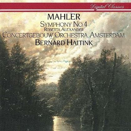Roberta Alexander, Gustav Mahler (1860-1911), Bernard Haitink & Concertgebow Orchestra Amsterdam - Symphony No.4 (4 CDs)