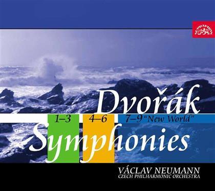 Antonin Dvorák (1841-1904), Václav Neumann & The Czech Philharmonic Orchestra - Symphonies Nos. 1-9 (6 CDs)