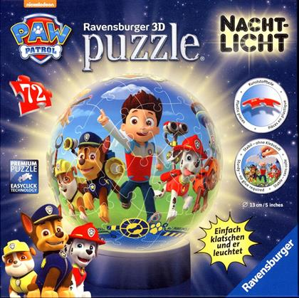 Paw Patrol: 3D Puzzleball-Nachtlicht - 72 Teile