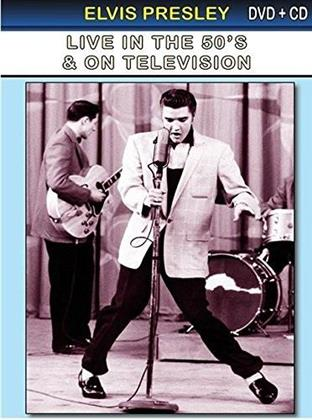 Elvis Presley - Live in the 50's & on television (n/b, DVD + CD)