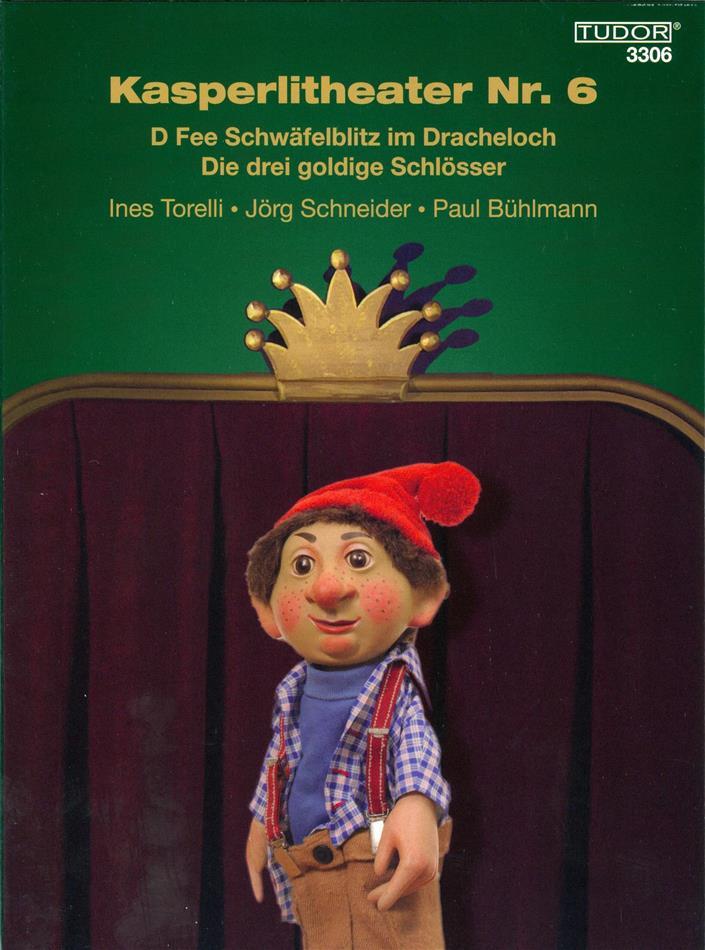 Kasperlitheater Nr. 6 - D Fee Schwäfelblitz im Dracheloch / Die drei goldige Schlösser (Digibook)