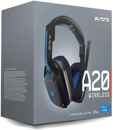 Astro Gaming A20 Headset (PS4, PC, MAC) - Grey/Blue