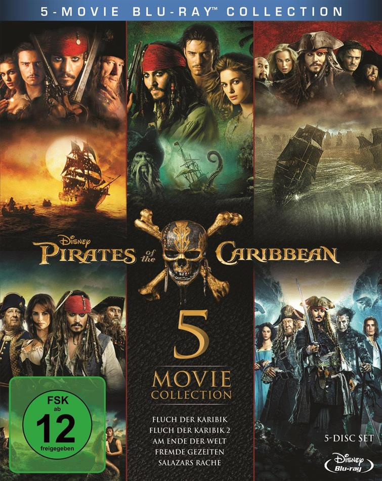 Pirates of the Caribbean - 5 Movie Collection (5 Blu-rays)