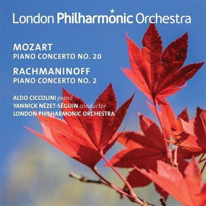 Wolfgang Amadeus Mozart (1756-1791), Sergej Rachmaninoff (1873-1943), Aldo Ciccolini & The London Philharmonic Orchestra - Piano Concertos - Live Recordings 2009 & 2001
