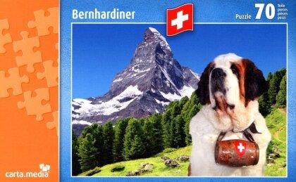 Bernhardiner vor dem Matterhorn - Puzzle