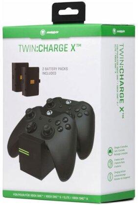 XBOX-One Ladestation TWIN:Charge X black inkl. 2 Akkus 700mAh