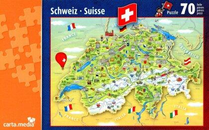 Illustrierte Schweizerkarte - Puzzle