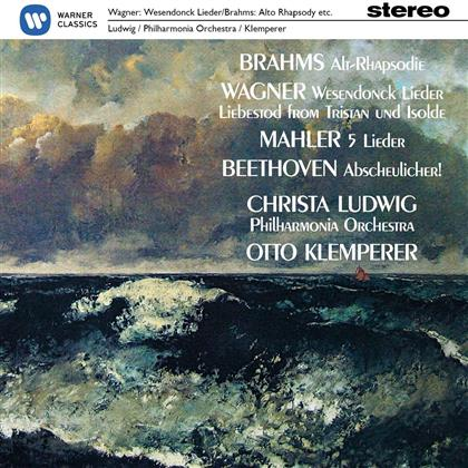 Richard Wagner (1813-1883), Johannes Brahms (1833-1897), Gustav Mahler (1860-1911), Christa Ludwig & Otto Klemperer - Wesendonck-Lieder / Alt-Rhapsodie