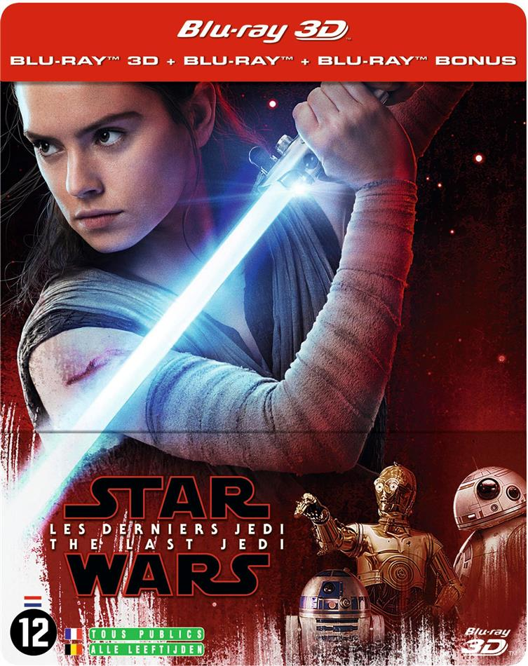 Star Wars - Episode 8 - Les derniers Jedi - The Last Jedi (2017) (Limited Edition, Steelbook, Blu-ray 3D + 2 Blu-rays)