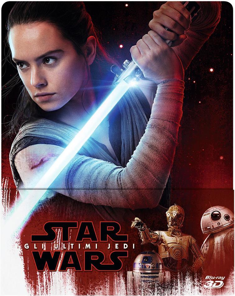 Star Wars - Episode 8 - Gli ultimi Jedi (2017) (Limited Edition, Steelbook, Blu-ray 3D + 2 Blu-rays)