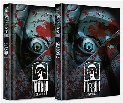 Masters of Horror - Season 1 & 2 (Cover Artwork, Limited Edition, Mediabook, Uncut, 9 Blu-rays)