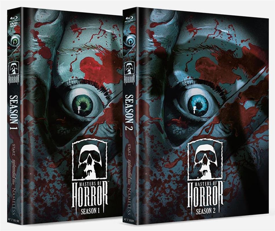 Masters of Horror - Season 1 & 2 (Cover Artwork, Limited Edition, Mediabook, Uncut, 9 Blu-rays)