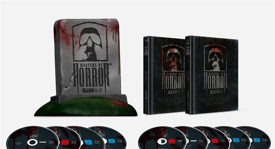 Masters of Horror - Season 1 & 2 (+ Büste, Limited Edition, Mediabook, Uncut, 8 Blu-rays + DVD)
