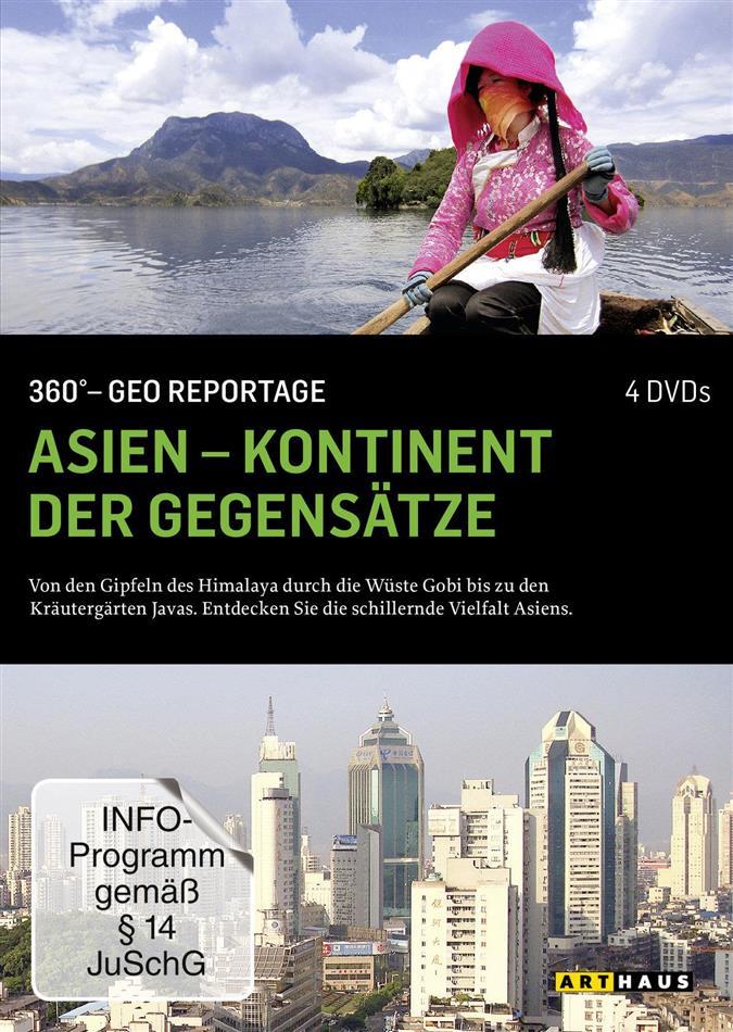 Asien - Kontinent der Gegensätze - 360° - GEO Reportage (Arthaus, 4 DVD)