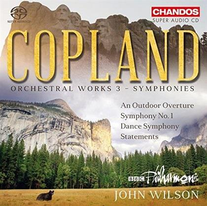 Aaron Copland (1900-1990), John Wilson & BBC Philharmonic - Orchesterwerke 3 - Symphonies (Hybrid SACD)