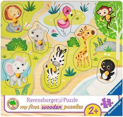 Unterwegs im Zoo - Rahmenpuzzle 8 Teile