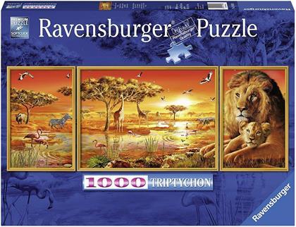 Afrikanische Impressionen - Triptychon Puzzle
