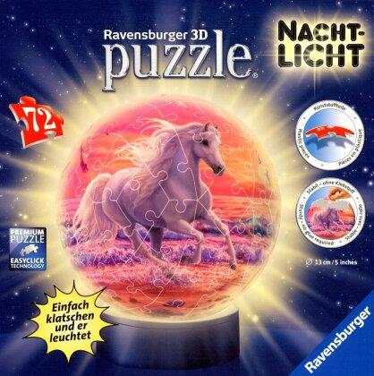 PuzzleBall-Nachtlicht: Pferde am Strand - 72 Teile