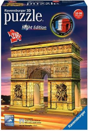 Triumphbogen - 3D Gebäude Puzzle 216 Teile (Night Edition)