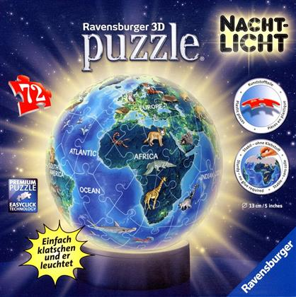 Puzzleball - Erde im Nachtdesign - 72 Teile