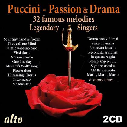 Giacomo Puccini (1858-1924) - Passion & Drama - 32 Famous Melodies - Legendary Singers (2 CDs)
