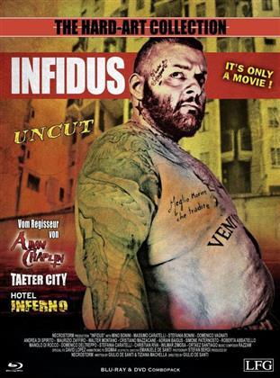 Infidus (2015) (The Hard-Art Collection, Cover B, Edizione Limitata, Mediabook, Uncut, Blu-ray + DVD)
