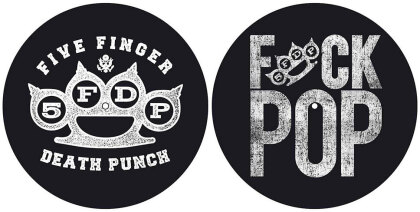 Five Finger Death Punch Slipmat Set - Knuckle/Fuck Pop