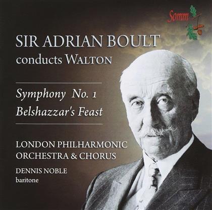 Sir William Walton (1902-1983), Sir Adrian Boult & The London Philharmonic Orchestra - Symphony Nr. 1 / Belshazzar's Feast