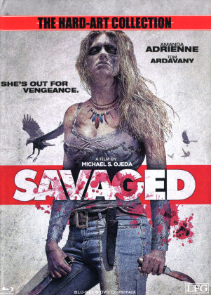 Savaged (2013) (Cover B, The Hard-Art Collection, Limited Edition, Mediabook, Uncut, Blu-ray + DVD)