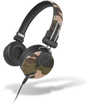 MySound: Speak Denim Stereo Headphones w/ Microphone - camouflage