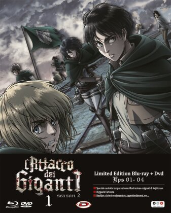 L'attacco dei Giganti - Stagione 2 Vol. 1 (Digibook, Edizione Limitata, Blu-ray + DVD)