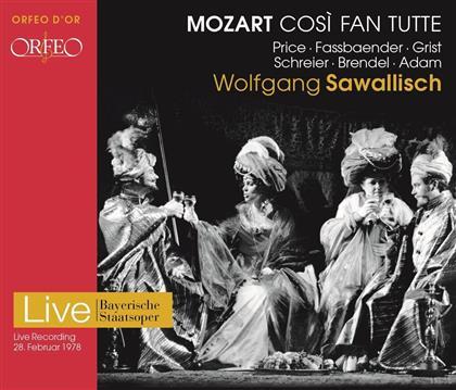 Dame Margaret Price, Brigitte Fassbaender, Wolfgang Brendel, Wolfgang Amadeus Mozart (1756-1791), Wolfgang Sawallisch, … - Cosi Fan Tutte - Aufnahme 1978 (2 CDs)