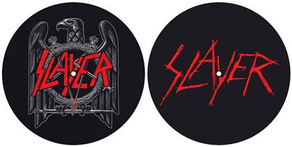 Slayer Turntable Slipmat Set - Eagle/Scratched Logo (Retail Pack)