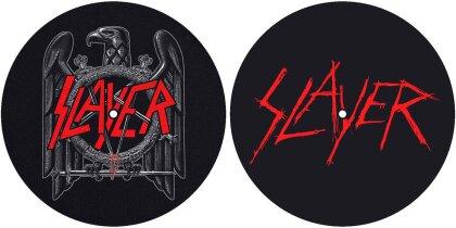 Slayer Turntable Slipmat Set - Eagle/Scratched Logo (Retail Pack)