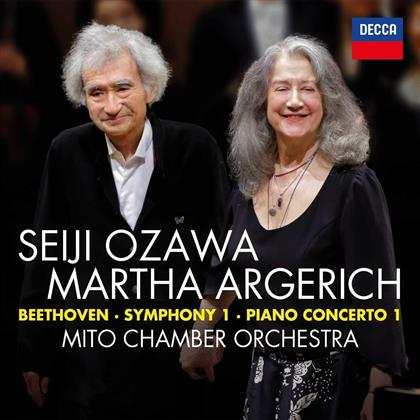 Martha Argerich, Ludwig van Beethoven (1770-1827), Seiji Ozawa & Mito Chamber Orchestra - Symphonie Nr. 1 & Klavierkonzert Nr. 1