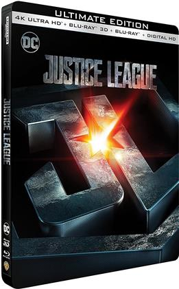 Justice League (2017) (Edizione Limitata, Steelbook, 4K Ultra HD + Blu-ray 3D + Blu-ray)