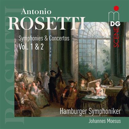 Francesco Antonio Rosetti (1750-1792), Johannes Moesus & Hamburger Symphoniker - Symphonies & Concertos Vol. 1 & 2 (2 CDs)