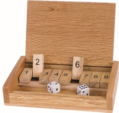 Reise-Würfelspiel Shut the box