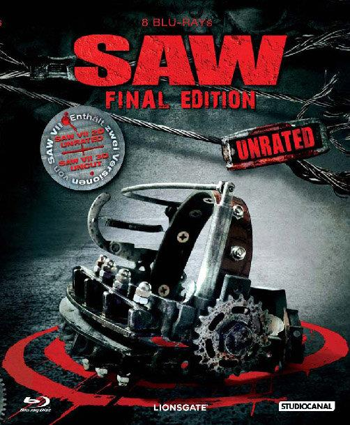 SAW 1-7 (Schuber, Final Edition, Uncut, Unrated, 7 Blu-ray + Blu-ray 3D)