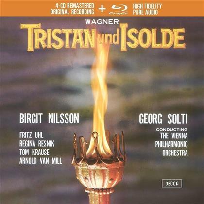 Richard Wagner (1813-1883), Sir Georg Solti, Fritz Uhl, Regina Resnik, Tom Krause, … - Tristan und Isolde (4 CDs + Blu-ray)