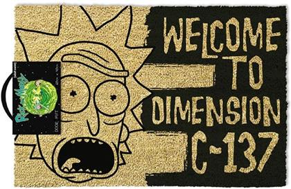 Rick & Morty: Dimension C-137 Black - Fussmatte