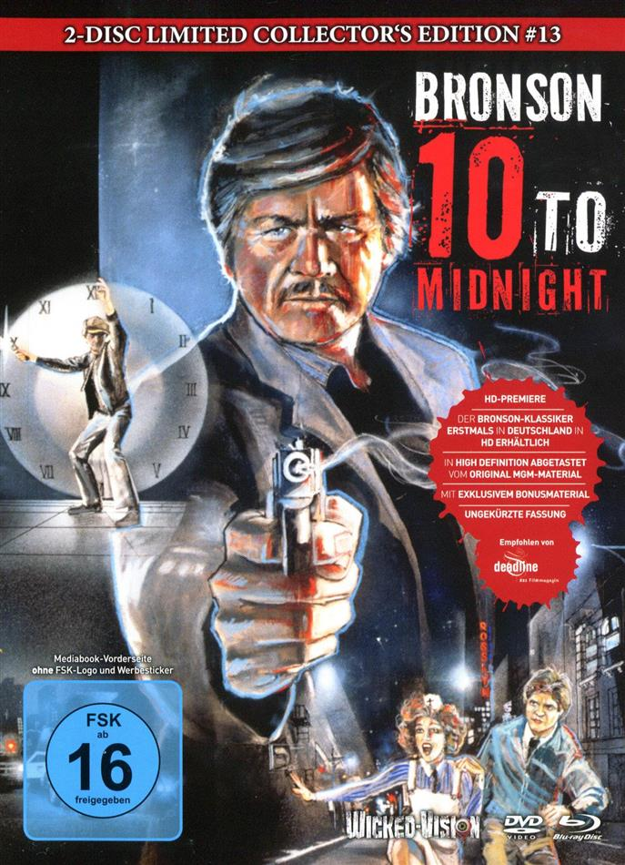 10 to Midnight (1983) (Cover A, Collector's Edition, Limited Edition, Mediabook, Uncut, Blu-ray + DVD)
