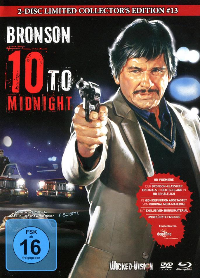 10 to Midnight (1983) (Cover B, Collector's Edition, Limited Edition, Mediabook, Uncut, Blu-ray + DVD)