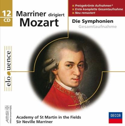 Wolfgang Amadeus Mozart (1756-1791) & Sir Neville Marriner - Marriner Dirigiert Mozart (12 CDs)
