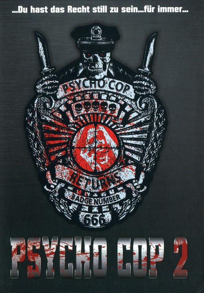 Psycho Cop 2 (1993) (Cover C, Limited Edition, Mediabook, Uncut, Blu-ray + DVD)
